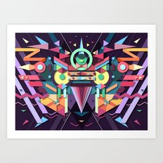 BirdMask Visuals - Falcon Art Print