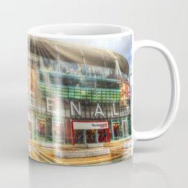 Arsenal Football Club Emirates Stadium London Sun Rays Coffee Mug