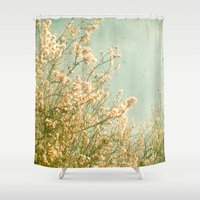 spring Shower Curtains featuring Spring by Cassia Beck