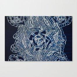 Floral Cyanotype Canvas Print
