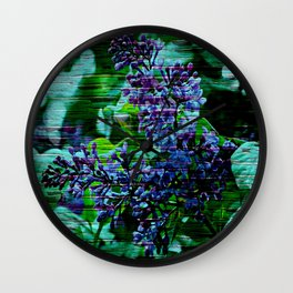 Vintage Textured Painted Lilac Wall Clock