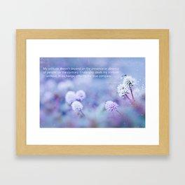 My Solitude Framed Art Print