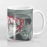 kris tate Mugs featuring Sharon Tate  by Jimmy Lee