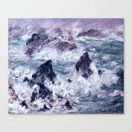Monet : Storm At Belle Ile Canvas Print