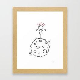 juri on the moon Framed Art Print