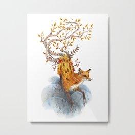 Fox Tree Metal Print