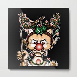 Grumpy Elf (Color) Metal Print