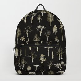 trees pattern Black edition Backpack
