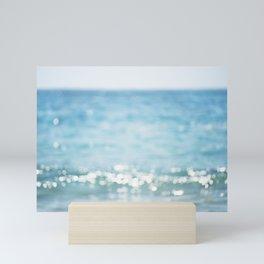Beach Ocean Photography Art, Blue Coastal Photo, Aqua Seascape Photograph, Waves Art Mini Art Print