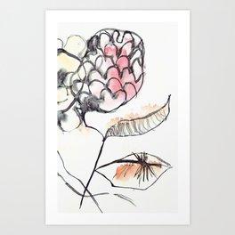 Japanese Flower Art Print