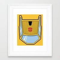 transformers Framed Art Prints featuring Transformers - Sunstreaker by CaptainLaserBeam
