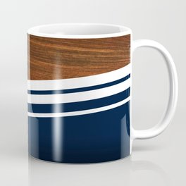 Wooden Navy Coffee Mug