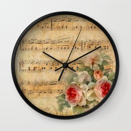 Vintage Music #1 Wall Clock