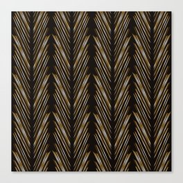 Wheat grass black Canvas Print