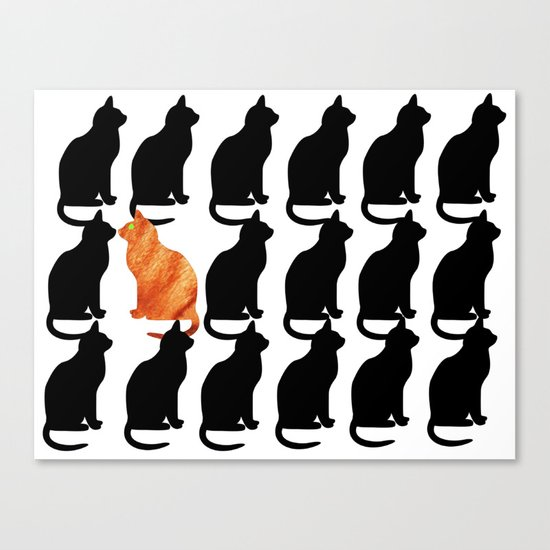 ODD CAT OUT Canvas Print