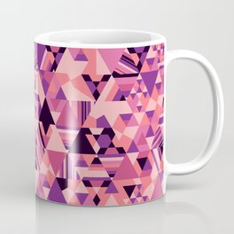 Colourful triangular mosaic in the nuance of pink Coffee Mug