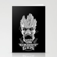 gym Stationery Cards featuring GROOT GYM by ADAMLAWLESS