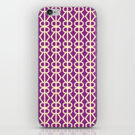Typographic pattern iPhone Skin
