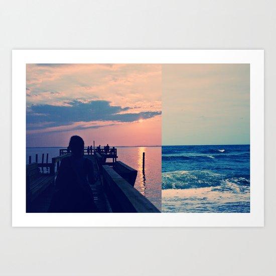 Tide Pier Art Print