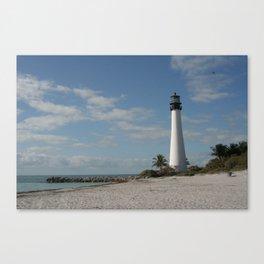 Cape Florida Light House Canvas Print