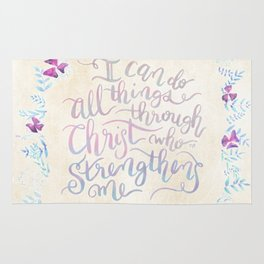I Can Do All Things - Philippians 4:13 Rug