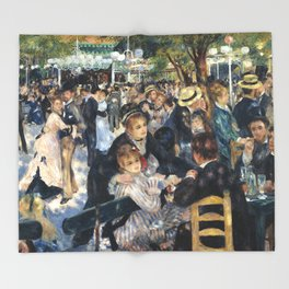 Dance at Le Moulin de la Galette by Renoir Throw Blanket