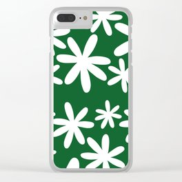 Tiare Flower Green Clear iPhone Case