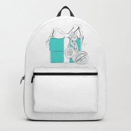Blue Gift Box Backpack