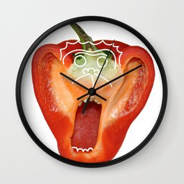 Monkey Pepper Wall Clock