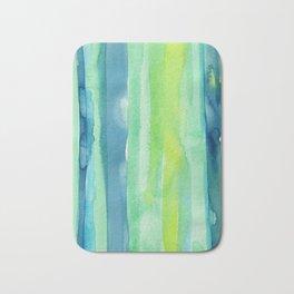 Vertical Stripes Pattern Spring Colors Bath Mat