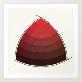 Le Rouge-Orangé (ses diverses nuances combinées avec le noir) Remake (Interpretation), no text Art Print