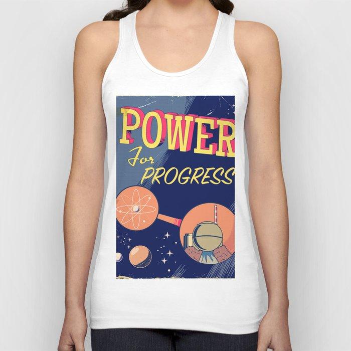 Power For Progress 1955 atomic power print. Unisex Tank Top