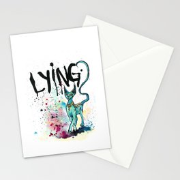 Lying Cat Stationery Cards