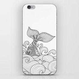 Whale Tail Style - Sea World and Ocean Zentangle Animal Design iPhone Skin