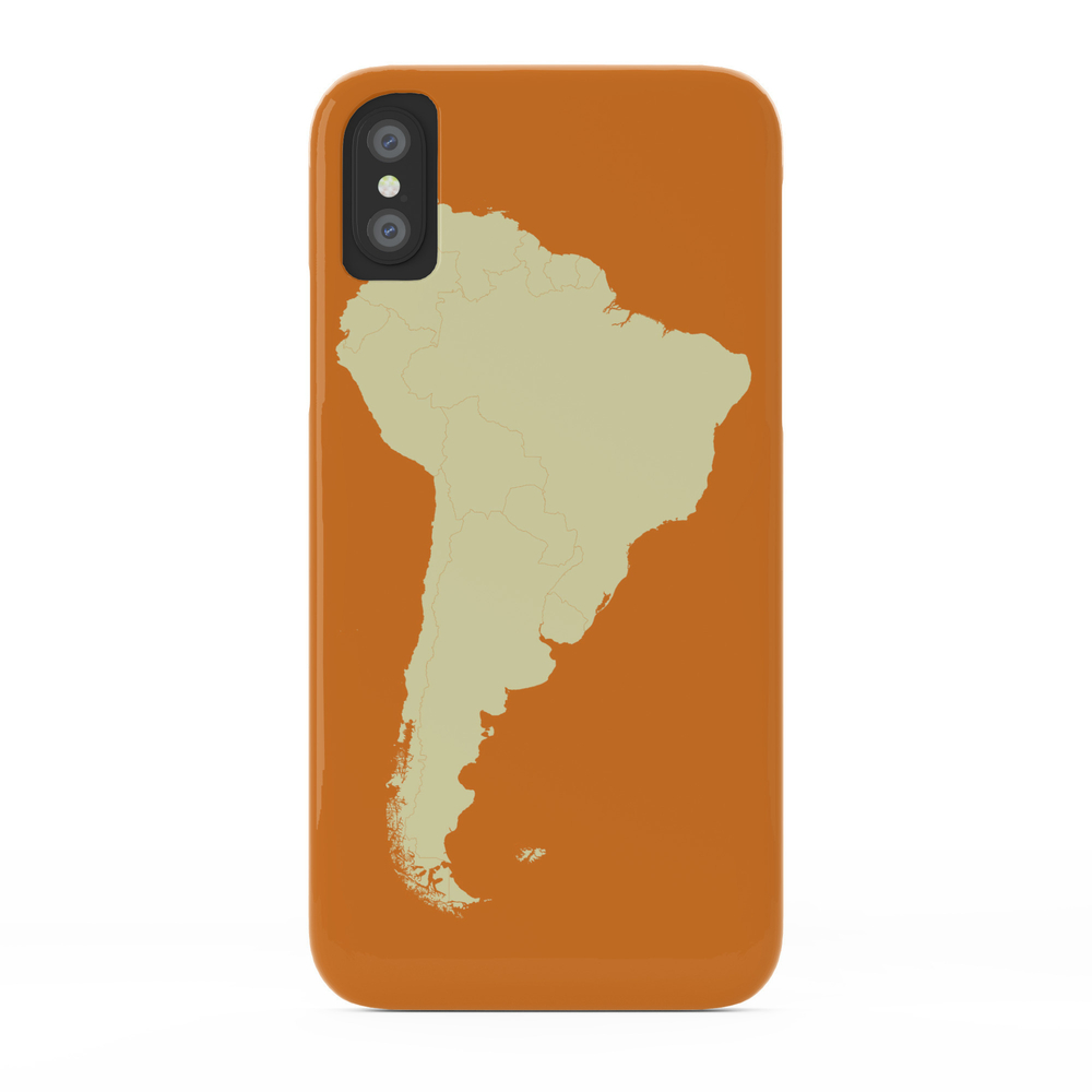 South America Map Phone Case by cartoposters (PCS3140141) photo