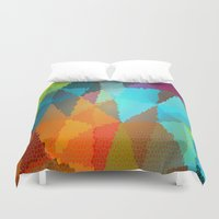 glass Duvet Covers featuring Stained Glass  by Latidra Washington