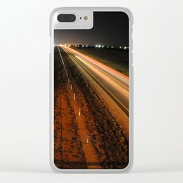 Light highway Clear iPhone Case