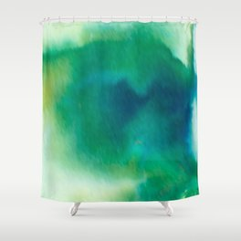 Ethereal Green Shower Curtain