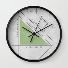 Parks of Chicago: Wicker Park Wall Clock
