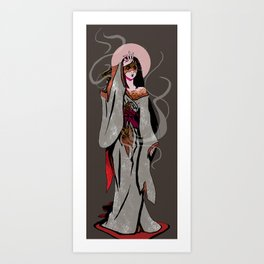 Izanami the Mourning Star Art Print