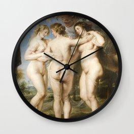 Peter Paul Rubens - The Three Graces Wall Clock