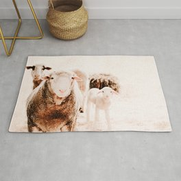 Milly's family portrait Rug