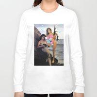 guns Long Sleeve T-shirts featuring Bubble Guns by Woah Jonny
