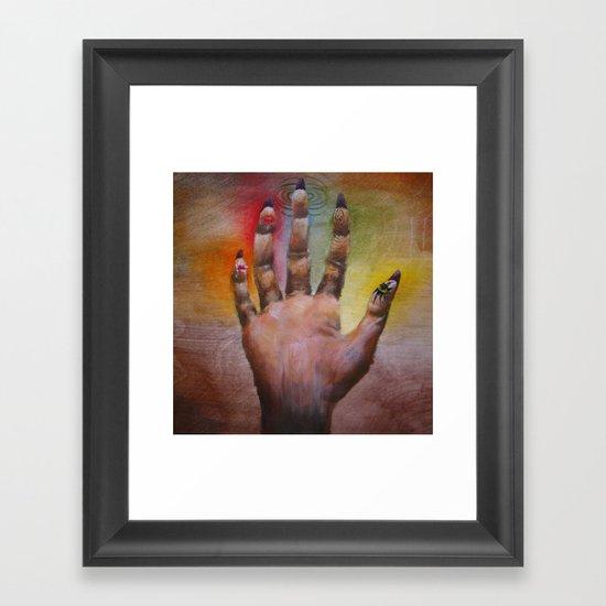 Five Senses Framed Art Print