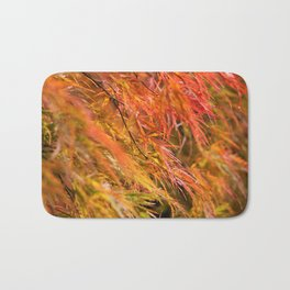 Japanese Maple in Autumn Photography Bath Mat