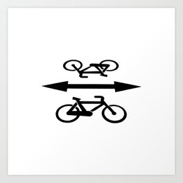 Bike lane Art Print