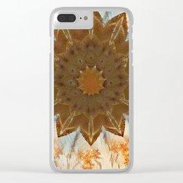 Fractal Carpet Mandala 11 Derivative Clear iPhone Case
