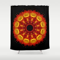 phoenix Shower Curtains featuring Phoenix by Mr. Pattern Man