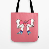 sylveon Tote Bags featuring Sylveon Princess by Papa-Paparazzi