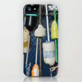 Buoys at Boston Harbor iPhone Case